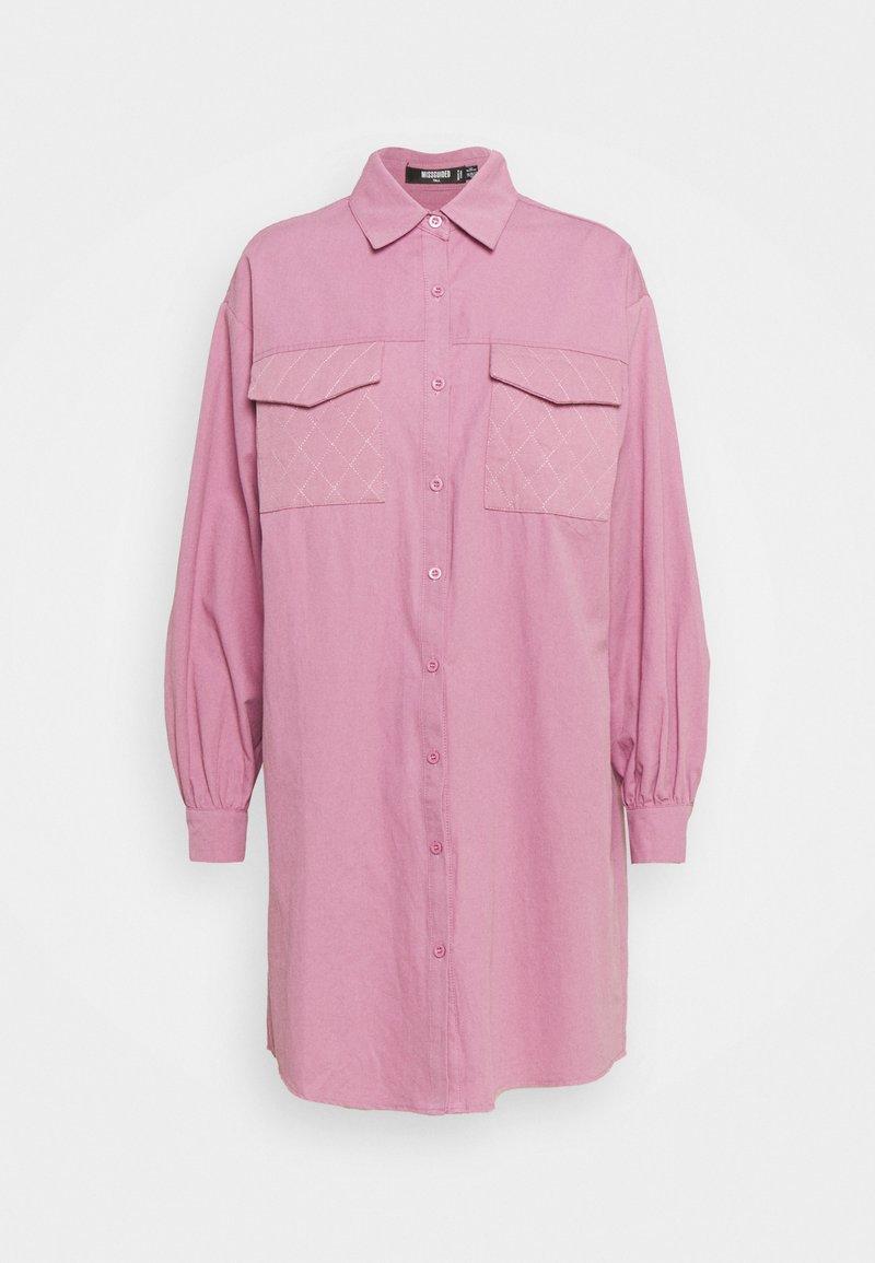 Missguided Tall - QUILTED POCKET DRESS - Shirt dress - dusky pink