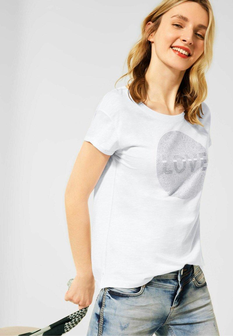 Street One - Print T-shirt - weiß