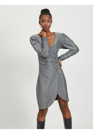Cocktail dress / Party dress - silver colour