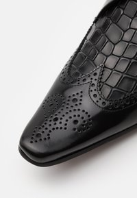 Jeffery West - PINO WINGCAP INSERT - Šněrovací boty - college black/antique black - 5