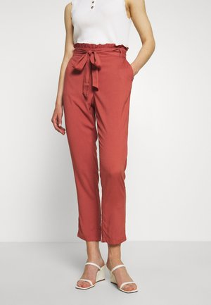 VMSIMPLY EASY PAPERBAG PANT - Trousers - marsala