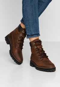 Timberland - LONDON SQUARE 6IN BOOT - Schnürstiefelette - mid brown - 0