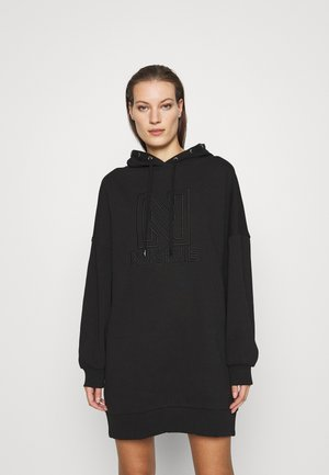 OVERSIZED HOODIE DRESS - Day dress - black