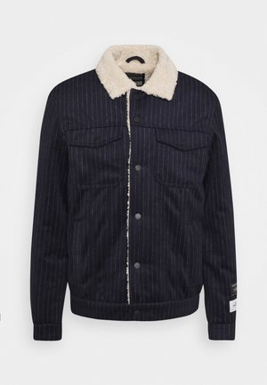 TRUCKER - Winter jacket - dark blue/off-white