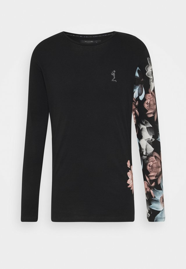 LOTUS TEE - Long sleeved top - black