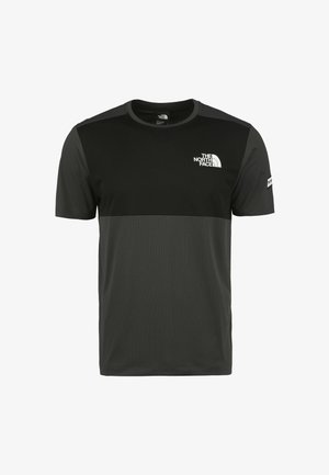 HYBRID - T-shirt con stampa - eu aspahlt grey / tnf black