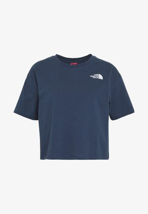 CROPPED SIMPLE DOME TEE - T-shirt imprimé - blue wing teal