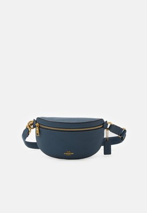 POLISHED PEBBLE BETHANY BELT BAG - Ledvinka - dark denim