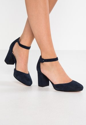 LEATHER - Tacones - dark blue