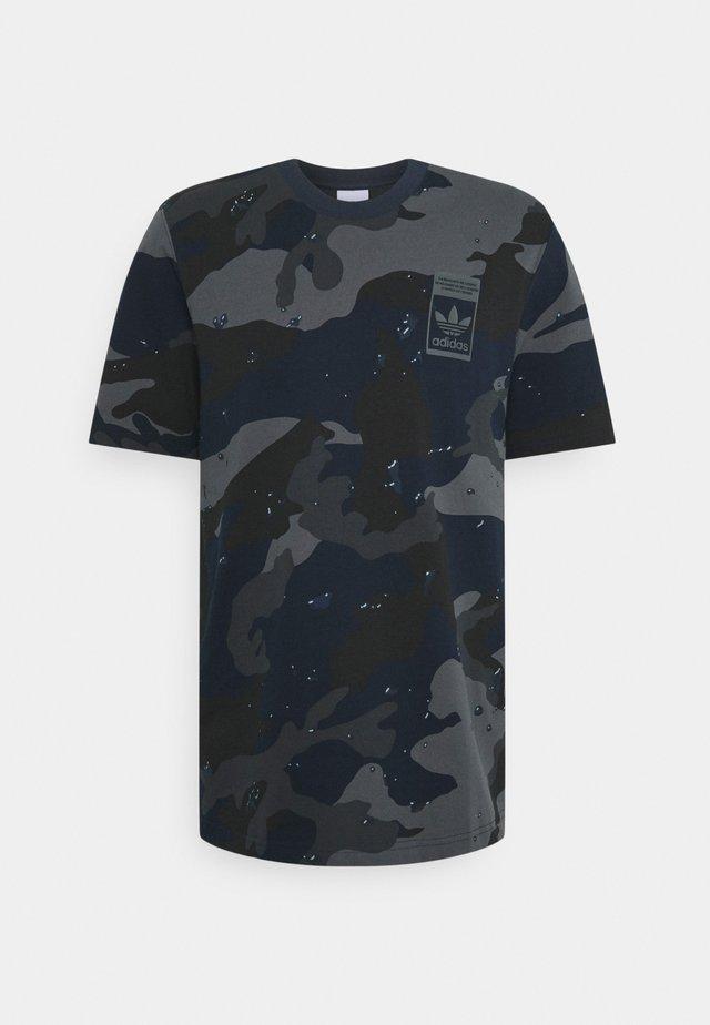 CAMO TEE - T-shirt imprimé - night navy