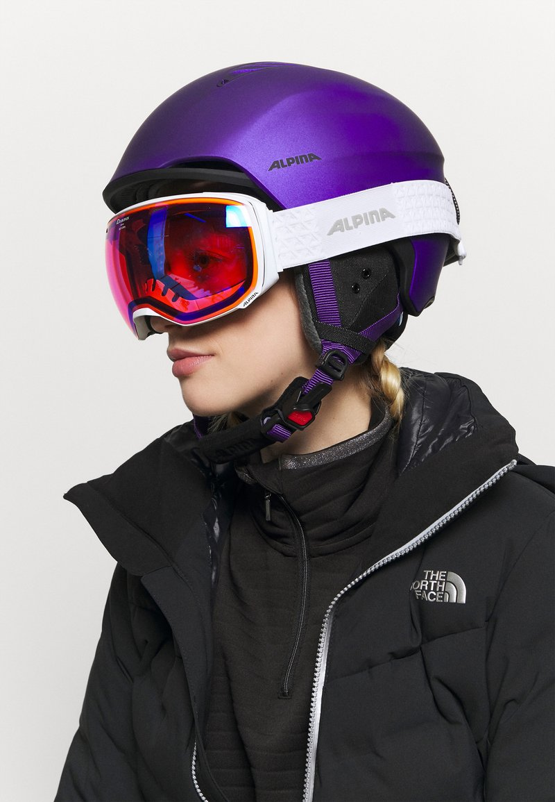 Alpina - BIG HORN - Gogle narciarskie - white