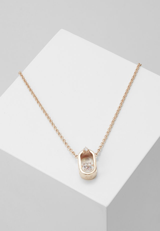 SPARKLING NECKLACE OVAL - Collier - white