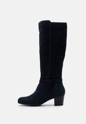 LEATHER - Boots - dark blue