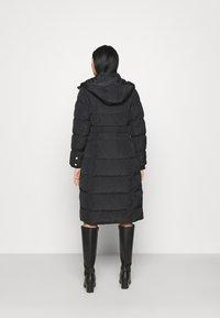 River Island - BELTED PUFFER - Winter coat - black - 3