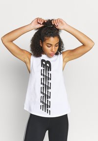 New Balance - RELENTLESS CINCHED BACK GRAPHIC TANK - Top - white - 0