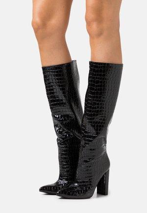 TAMSIN - Kozačky na vysokém podpatku - black