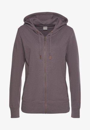 Zip-up hoodie - mauve-meliert