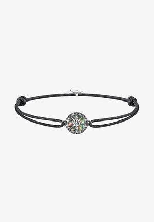 LITTLE SECRET KOMPASS ABALONE PERLMUTT 925ER STERLINGSIL - Bracelet - black/turquoise
