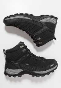 CMP - RIGEL MID TREKKING SHOES WP - Hiking shoes - nero/grey - 1