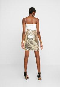 Blendshe - BSCORAS SLIM - Pouzdrová sukně - gold - 2