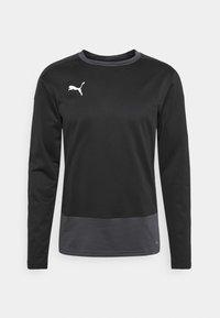 Puma - TEAMGOAL TRAINING  - Fleece jumper - black/asphalt - 4