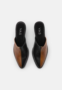 YAS - YASTONA - Heeled mules - black/biscuit - 5