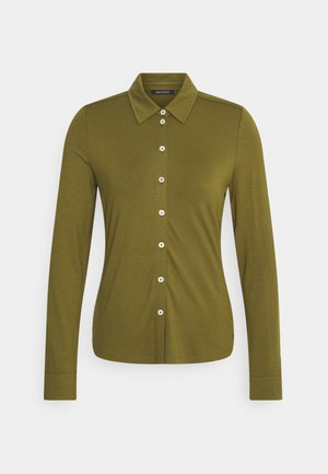 BLOUSE LONG SLEEVE - Button-down blouse - olive green