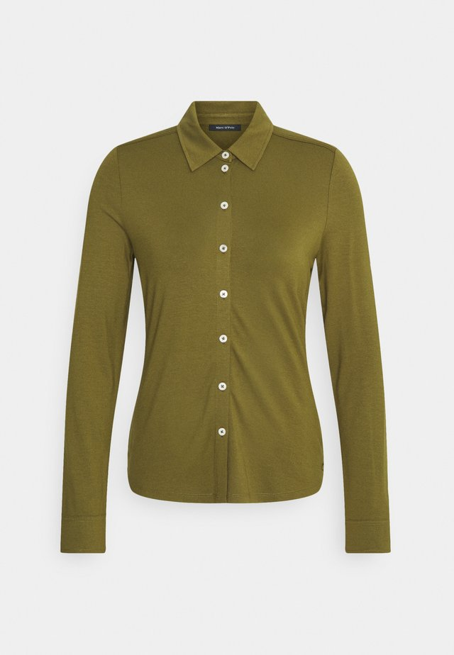 BLOUSE LONG SLEEVE - Camisa - olive green