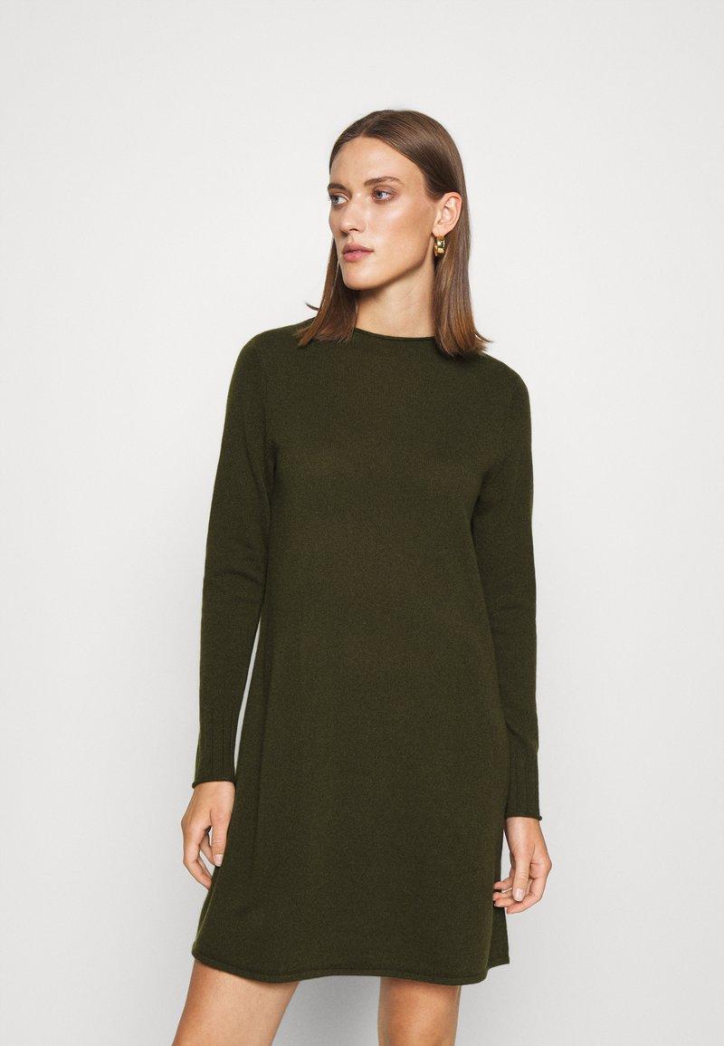 FTC Cashmere - DRESS - Jumper dress - bronze green