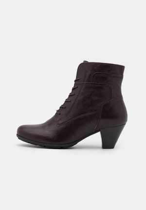 Lace-up ankle boots - chianti
