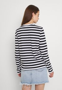 Pieces - Long sleeved top - black/bright white - 2