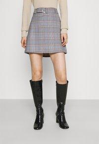 Gina Tricot - SAGA SKIRT - Mini skirt - blue - 0