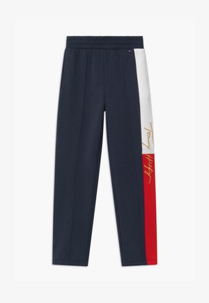 ICONS LOGO - Tracksuit bottoms - blue