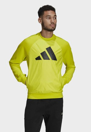 FI Q1 BD MUST HAVES PRIMEGREEN SPORTS PULLOVER SWEATSHIRT - Sweatshirt - yellow