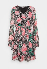PCFLOWI  DRESS - Day dress - black/white/pink