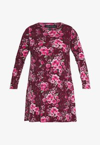 CAPSULE by Simply Be - LONG SLEEVE SWING - Jersey dress - berry - 3