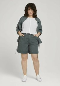 MY TRUE ME TOM TAILOR - Shorts - washed jasper green - 1
