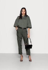InWear - YOKO SHIRT - Button-down blouse - beetle green - 1