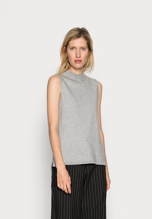 SANDRINE ELLEVEN NECK VEST - Jersey de punto - mottled light grey