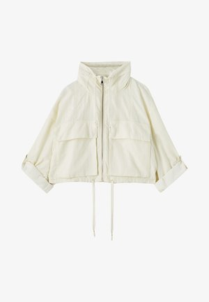 GESTREIFTE SELVEDGE  - Summer jacket - mottled beige