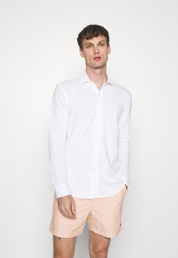 KNIT OXFORD SHIRT - Koszula - white