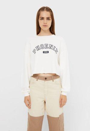 FEINES AUS PLUSCH - Sweater - white