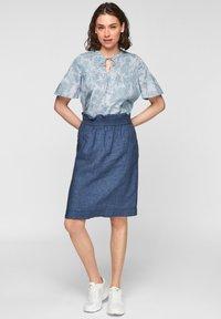 s.Oliver - A-line skirt - faded blue melange - 1
