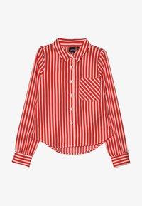 LMTD - NLFKAYA - Button-down blouse - poppy red/white - 3