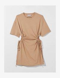 Bershka - Jersey dress - beige - 5