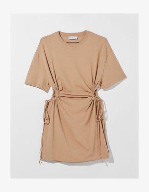Jersey dress - beige
