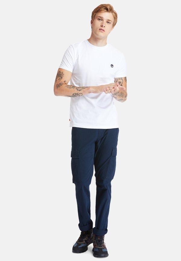 Timberland SS DUNSTAN RIVER - T-shirt z nadrukiem - white/biały Odzież Męska WLQK