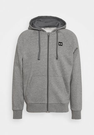 RIVAL HOODIE - Mikina na zip - pitch gray light heather/onyx white