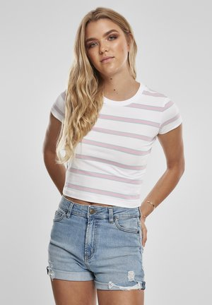 Print T-shirt - white/girlypink