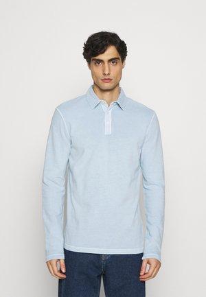 LONG SLEEVE FLATLOCK DETAILS - Polo shirt - winter sky